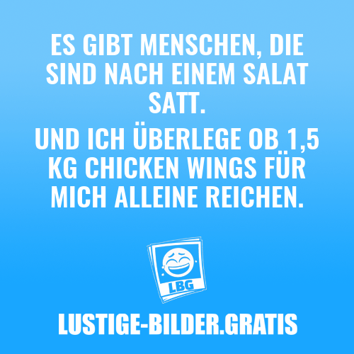 Salat und Chicken Wings